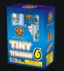 TINY TITANIUM 6 ARTILLERY SHELL-CANISTER & BALL FIREWORKS