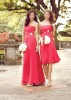 Bridesmaid prom dress gown bateau sl-962