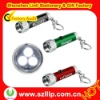 Super bright led torch keychain with 3 led