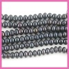 9-10mm dyed black freshwater pearl strand