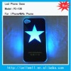 PC-106 NEW Sense Flash light Case Cover for Apple iPhone 4 4S 4G LED LCD Color Changed