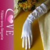 white bridal gloves