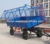 4 wheels 2 axles tractor dump trailer/ sugar cane trailer/grain trailer