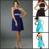 2012 Halter Beading Pleats Chiffon A Line Casual Dresses