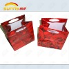 Plastic shopping bag with double handle