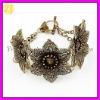 Vintage Metal Flower Friendship Bracelet Jewelry SZ-513