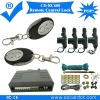 Hot selling remote central lock with 2 metal rmeotes,lock and unlock press keys,cable door lock,keyless entry,433.92mhz.