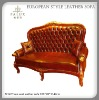 on sale classical European style antique leather sofa set/luxury classic furniture sofa set