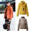 Lady's Fashion Korea Wistiti collar Slim Fitting short Cotton Quilted Jacket