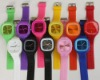 New fashion Silicon watch wholesale ,mixed color as your request