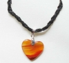 semi precious stone (red agate) pendant