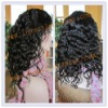Natural curl indian hair full lace wigs for black woman