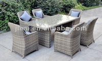 rattan outdoor garden dinning set brushed rattan