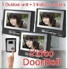 SECURITY CAMERA INTERCOM SYSTEM 3 LCDs apartment video door phone