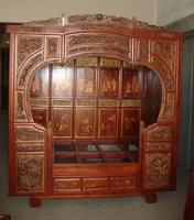 old carved bed Chinese furniture