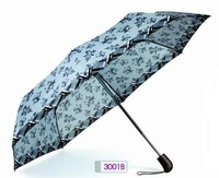 Ladies umbrella auto open and close with pongee fabric- 3001B