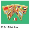 Wood Educational Book National Flags
