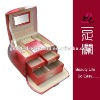Leather jewelry boxes wholesale india, 9 Parts with Mirror TS-JB12705