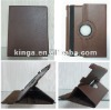 360degrees rotatable tablet PC leather cases for ipad