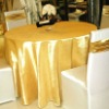 golden color 100% polyester hotel&home use table cloth