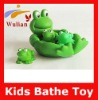 Cute Green Frog Family Floating Kids Bathe Vinyl Soft Plastic Toy