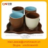 full set ceramic plate with cup