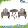 wooden wheel style garden furniture