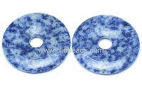 Blue Spot Jasper Donut Pendants
