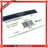 the white card customized barcode labels for t-shirts,shorts,pans,other garments