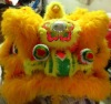 Lion Dance Lion Head with Qualified Wool in Yellow Color 100% Handmade