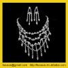 Gemstone jewelry set with rhinestone