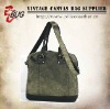 2012 latest cotton satchel bag/cotton handbag/vintage cotton shoulder bag