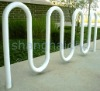 White Powder Coated Wave 7 Bike Racks