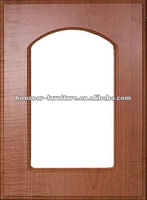 PVC thermfoil arch glass cabinet door