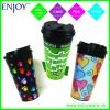 eco friendly plastic coffee cup with full wrap printing