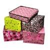 Non woven portable folding sundries quadrate storage box in stock