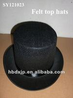black party top hats 100% felt with15cm height/11CM/17CM