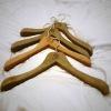 Ancient look wooden coats hanger