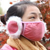 New arrival winter cartoon warm mask with earmuff