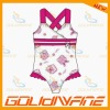 Pink wide strap girl swimsuits for your little one