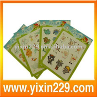 2011 cartoon adhesive sticker for promotion