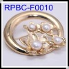 Wholesale Imitated Gold Plated FWP Round Brooches