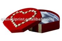 OEM velvet jewellery paperboard box