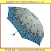 School Girls Folding Umbrella Pongee Fabric