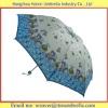 School Girls Folding Umbrella Pongee Fabric