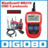 all 1996 and later OBD II compliant US, European and Asian vehicles MaxiScan MS310 OBD II/EOBD Code Reader MS 310