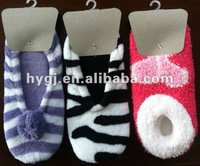 woman jacquard slipper socks