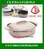 die cast aluminum casserole two parts devided