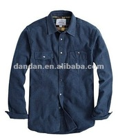 Mens leisure long sleeve shirt