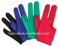 Custom billiard pool gloves three fingers